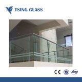 6.38-43.20mm de color claro vidrio laminado de pasamanos de escaleras de edificios