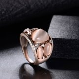 De buitensporige Witte Grote Bijkomende Ring van de Manier van de Juwelen van de Steen Trendy