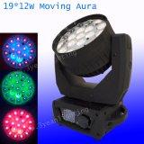 Heiße Wäsche-bewegliches Hauptlicht der Verkaufs-Mac-Aura-19*12W LED