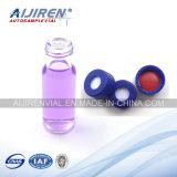 Bouteille à bouchon vissable en verre de Borosilicate 1.5ml avec le couvercle à visser bleu de 9mm pp
