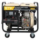Grupo electrógeno diesel 5 kw para el sector industrial (grandes ruedas).