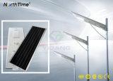 Integriertes Monosilikon-Panel-menschliche Bewegungs-Fühler-Solarstraßenlaterne