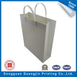 Plain bianco Paper Hand Carry Bag con Plastic Handle
