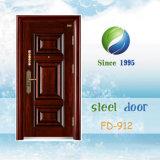Puerta de entrada de acero de China metálicas de seguridad Puerta Puerta Puerta exterior (FD-912)