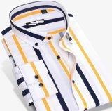 Chemises estampées de la piste tissées par 100%Cotton des hommes chauds de type