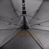 أسود لون لعبة غولف صامد للريح مظلة مستقيمة
