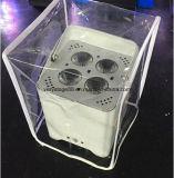 4 X 18W + UV RGBWA 6en1 Wireless LED Luz Superior/Batería Recargable Powered LED de conexión inalámbrica luz superior de la boda