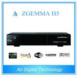 Decodificador combinado Zgemma H5 da versão nova H. 265 com o afinador de DVB-S2+Hybrid DVB-C/T2