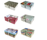 Usine directement à la vente Rectangle Boîte de stockage avec verrou, Boîte de rangement de bureau créatif