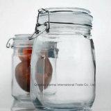 Rundes Glaskonserve-Nahrungsmittelspeicher Kilner Salz-Glas mit Klipp