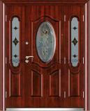Oriente Médio, Europ, EUA Francês de Aço de vidro temperado porta exterior de porta a porta de segurança (EF-G001)