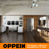 Indonesia moderno de color blanco en forma de U kitchen cabinet (OP15-M06)