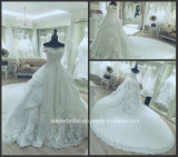 Мантий шарика Organza шнурка платье венчания Gl1725 Bridal выполненное на заказ реальное