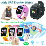 Maak GPS van de Kinderen van het Scherm van de Aanraking het Horloge van de Drijver met Veelvoudige Talen (D15) waterdicht