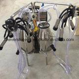 bomba de vacío eléctrica tranvía Double-Cow móvil de la máquina de ordeño