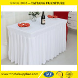 Do poliéster do casamento branco liso do Tablecloth tampa 100% de tabela redonda