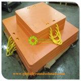 黄色いカラークレーンPads/HDPE物質的なクレーンパッドかアウトリガーパッド
