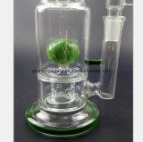 13.7 Zoll Glaswasser-Rohr-des grünen Filters