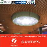 Dcorative WPC techo de PVC, fuerte en el techo de aluminio de diseño, suspendidas del techo deflector lineal