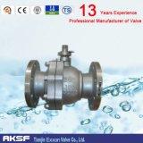 API de acero de fundición de calidad industrial de la brida de la válvula de bola flotante