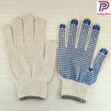 10gauge pvc stippelde Witte Katoenen Handschoenen