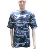 Última T-shirt camuflagem personalizado para o comércio por grosso