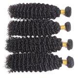 für Verkaufs-Schwarz-Farben-brasilianisches Haar tiefes lockiges einschlag14inches