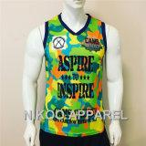 Aceptar el pedido pequeño sublimación personalizada Chaleco de Entrenamiento Deportivo Sport camiseta