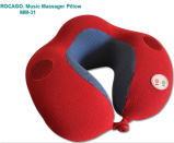 En forma de U del cuello del recorrido almohada de masaje con musical