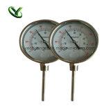 Termometro bimetallico industriale dell'acciaio inossidabile