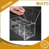 Cadre acrylique transparent de renivellement de vernis à ongles d'étalage