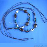 Fashion corde de coton tressé de perles de la chaîne de la courroie à caractère ethnique Tassel Women's Dress