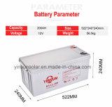 Batteria solare acida al piombo sigillata gel 12V 200ah con la garanzia 2years