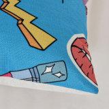 習慣3Dデジタルプリント装飾的なクッションカバー投球枕箱の綿の麻布