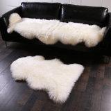 模造ウールの革ソファーのカーペットの居間のベッドの敷物