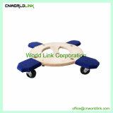 Déplacement de la plate-forme d'empilage de contreplaqué 4 roues chariot de ronde