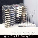 Présentoir acrylique d'espace libre de beauté de Lili pour différentes extensions de cils