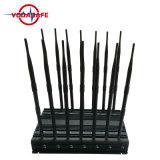 14 de Cellulaire Stoorzender van de antenne 3G 4G voor Controle 433 van Lojack wi-Fi+Remote 315 868 +GPS Draadloze GSM van het Signaal Cellphone van de +VHF/UHF-radio +Lojack Stoorzender met Brifecase