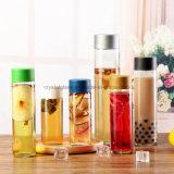 250ml-800ml Voss Getränkesaft-Glaswasser-Flasche mit Farben-Schutzkappe