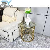 家具の側面表ガラス表の趣味のロビーの側面のコーヒーテーブル