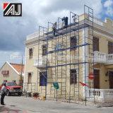 組積造のための鉄骨フレームの足場システム