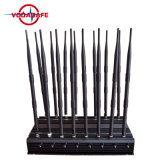 16 GPS WiFi van de Telefoon van de antenne Mobiele Stoorzender de UHFStoorzender van VHF Lojack, de Regelbare Stoorzender van de Telefoon van de Cel van de Hoge Macht & Stoorzender WiFi tot 50 Meters van de Waaier