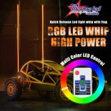 Libération rapide des whips de lumière à LED RVB/antenne Whips de lumière/Buggy whips