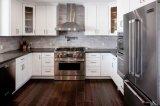 Estilo moderno americano Agitador Branco Armários de cozinha móveis de madeira maciça