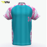 Sublimation Custom Dry Fit Floral Print Baseball Jersey