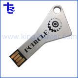 Silver gravure laser personnalisée de la forme de la touche logo lecteur Flash USB