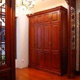 Muebles clásicos de madera maciza de roble rojo Dormitorio Wardrode (YH-W3025)