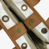 Blanco impermeabilizar el bolso lavado del bolso de hombro del papel de Kraft (16A086)