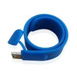 Braccialetto impermeabile del USB di marchio su ordinazione, dispositivo del USB del silicone