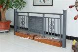 Balustrade en acier galvanisée décorative de haute qualité 4 de balcon d'alliage de Haohan Alluminum